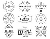 Exploration vector Sea Badges