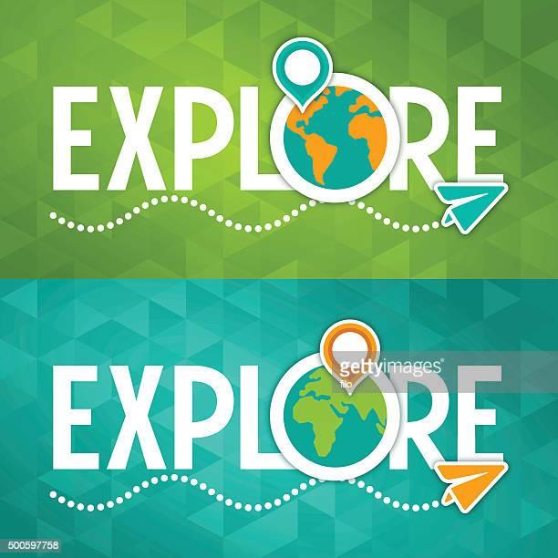 Entdecken Sie reisen Konzept
