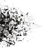 Explosion of black shards. Shatter vector design element for your web banner and print