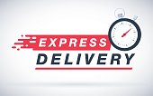 Express delivery icon for apps and website. Delivery concept. Vector illustration. Flat design. Fast sheeping picture