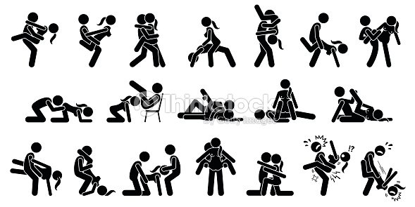 Couple silhouette sex position would