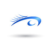 Water Wave swoosh symbol and icon Template vector.