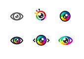 flat eye sign vector