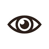 Eye icon isolated on white background