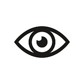 Eye icon. Vector illustration.