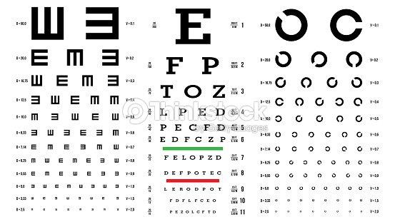 Eye Test Chart Vector Vision Exam Optometrist Check Medical Eye