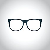 Eyeglasses black icon for web and mobile device