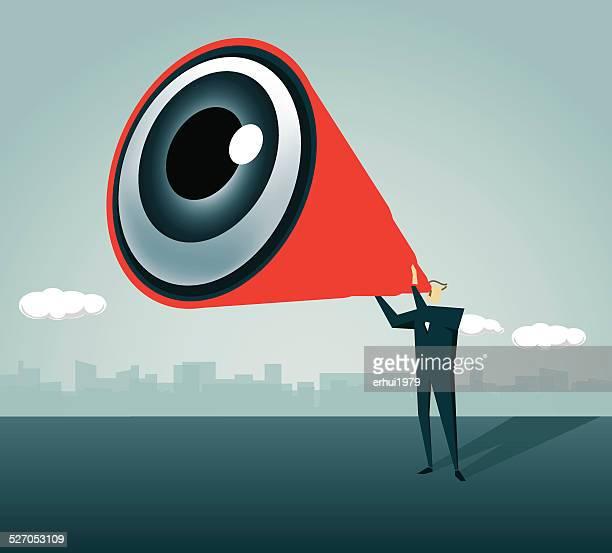 Eye,Look, Direction, Looking,Hand-Held Telescope, View