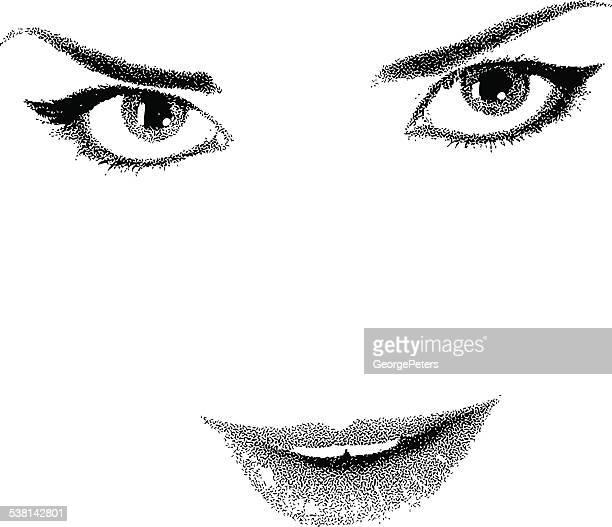 Eyes Lips High Key, Black and White