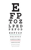 Eyes test chart, vector illustration