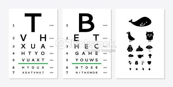Eyes Test Chart Vector Art Thinkstock