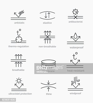 Fabric properties icons : stock vector