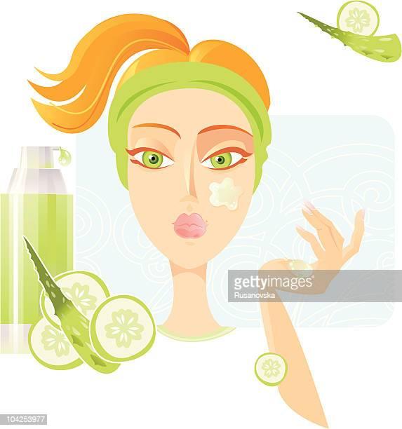 Face care SPA. (Cucumber and Aloe-Vera)