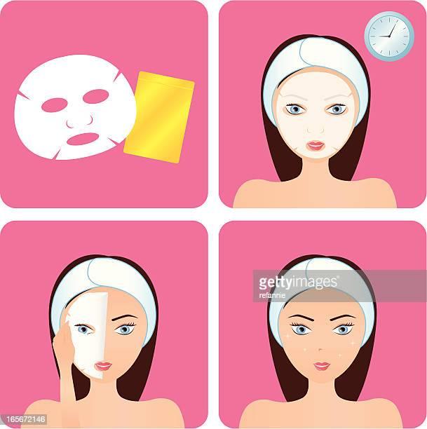 Gesichtsschutz-Schritt
