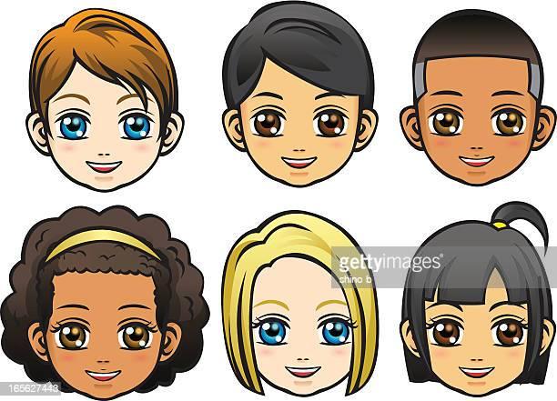 Gesichter der Kinder