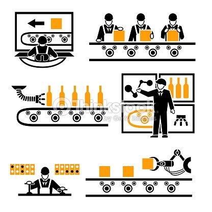 ic nes usine processus de production clipart vectoriel thinkstock. Black Bedroom Furniture Sets. Home Design Ideas