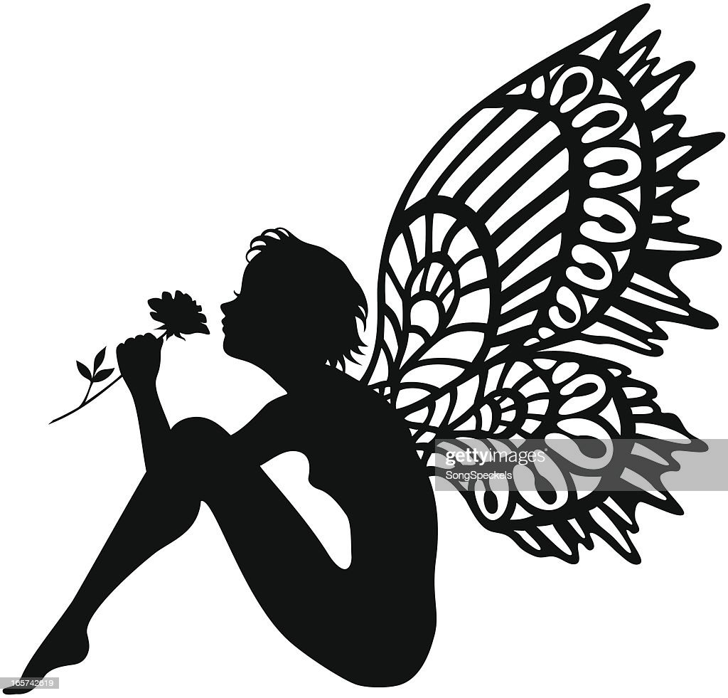 It's just a photo of Modest Free Printable Fairy Silhouette
