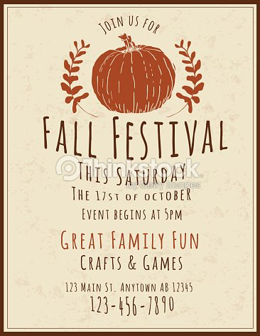 fall festival flyer template vector art