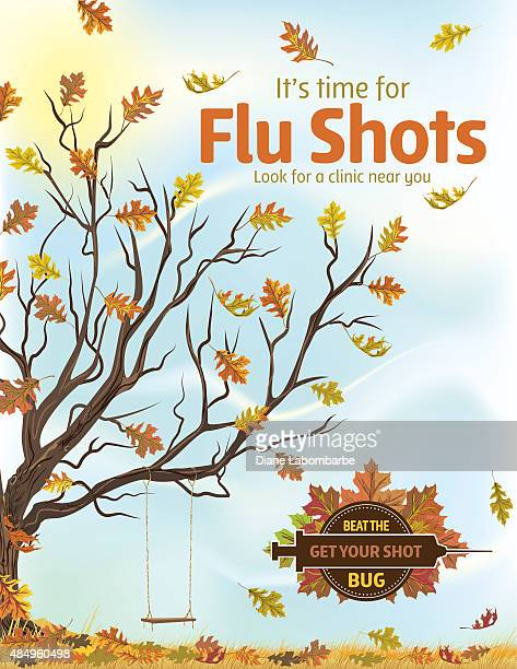 Fall Flu or Influenza Shot Poster Template