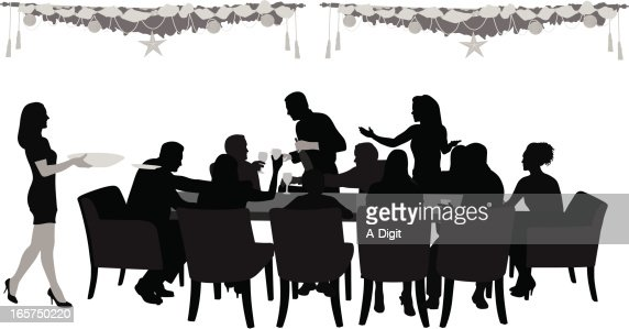 Dining table stock illustrations and cartoons getty images for Repas avec amis