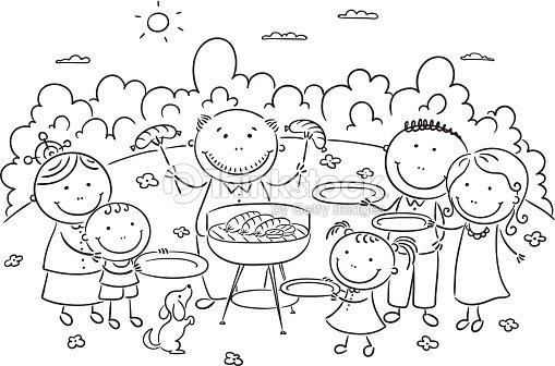 Familia Tener Picnic Al Aire Libre Arte vectorial | Thinkstock