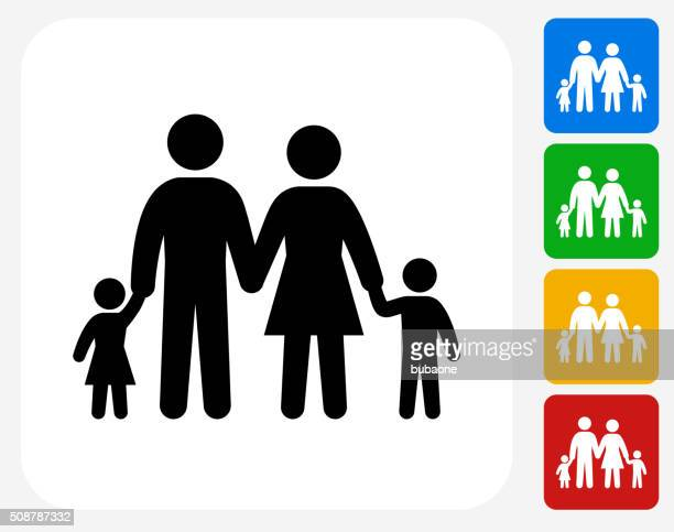 Family Icon Flat Graphic Design