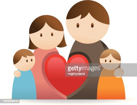 Family Icon With Love Heart Vector Art | Getty Images
