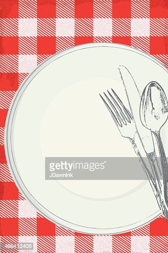 Backyard Bbq Paper Plate Picnic Table Invitation Template Vector