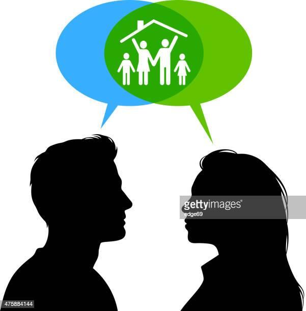 Familie Planung-Konzept