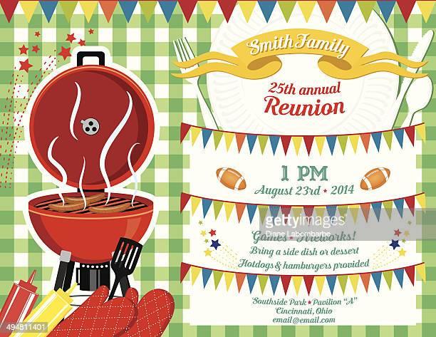 Family Reunion Bbq Invitation Template Vector Art – Reunion Invitation Template