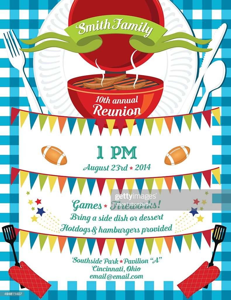 Family Reunion Bbq Invitation Template Vector Art – Family Reunion Invitation