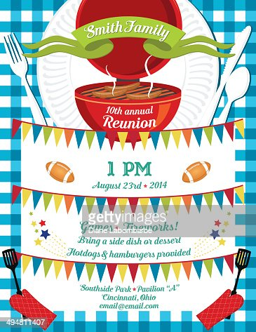 Bbq Invitation With Smoke On Green Template Vector Art | Getty Images