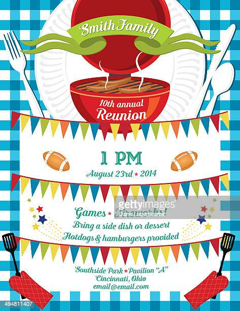 Family Reunion Bbq Invitation Template Vector Art – Reunion Invitations Templates
