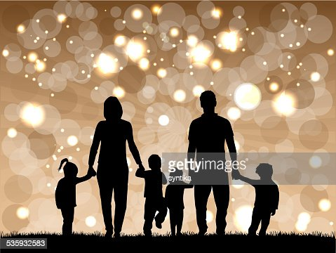 Family silhouettes : Vector Art