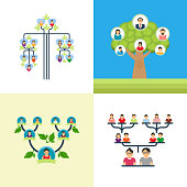 Subsequent images are a set of family tree vector illustration. Such inventive, good-looking and dynamic set of graphic manifests family vector illustration.