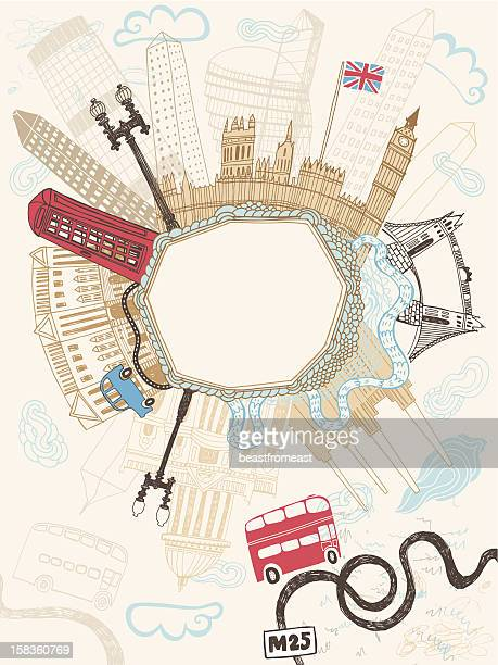 Famous buildings and monuments in London, UK
