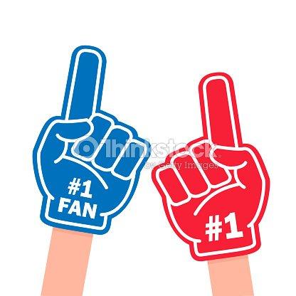 Fan foam finger : arte vettoriale
