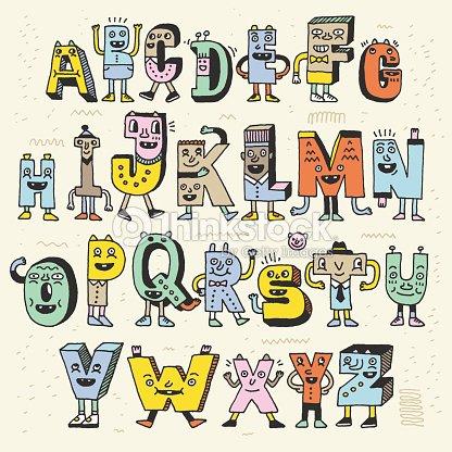 Fantastic funny alphabet wacky doodle letters design color set wacky doodle letters design color set vector art thecheapjerseys Gallery