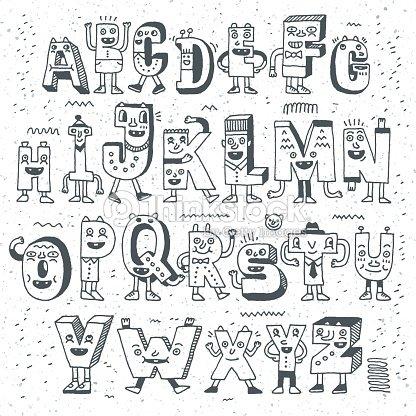 Fantastic funny alphabet wacky doodle letters design set vector art wacky doodle letters design set vector art thecheapjerseys Gallery
