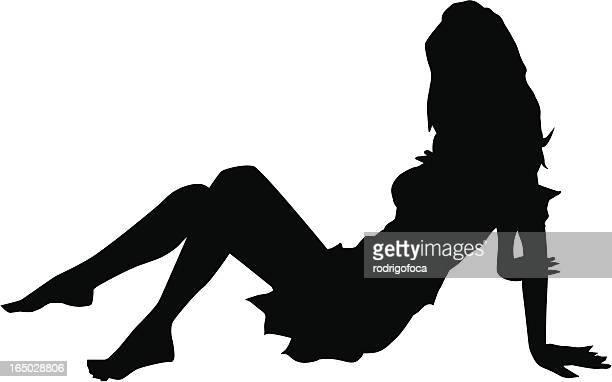 Fantastische Mädchen Silhouette