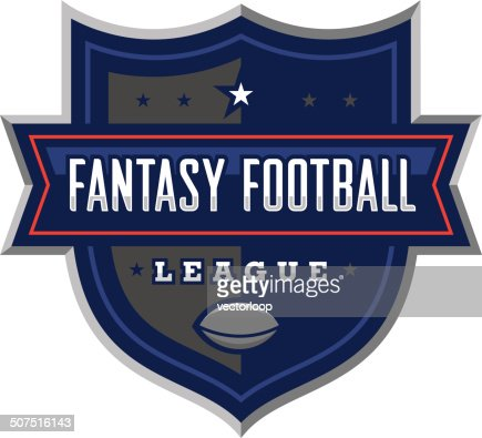 fantasy football league logo vector art getty images