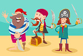 Cartoon Illustration of Funny Pirates Funny Fantasy Characters