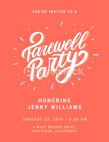 Farewell party invitation. : stock vector