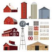 Farm Building Livestock vector set