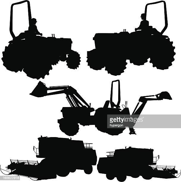 Combine Harvester Vector Art And Graphics