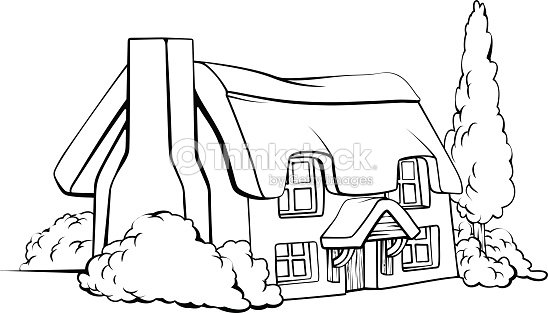 Farm House Cottage Vector Art