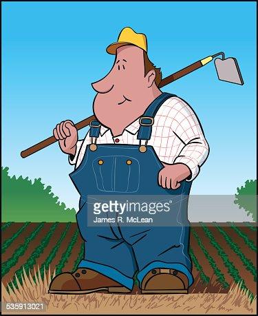 Agricultor : Arte vetorial