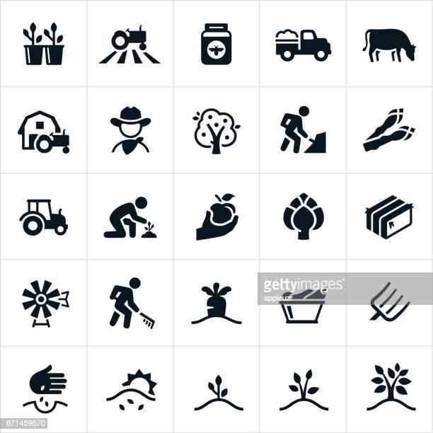 Landwirtschaft und Landwirtschaft Symbole