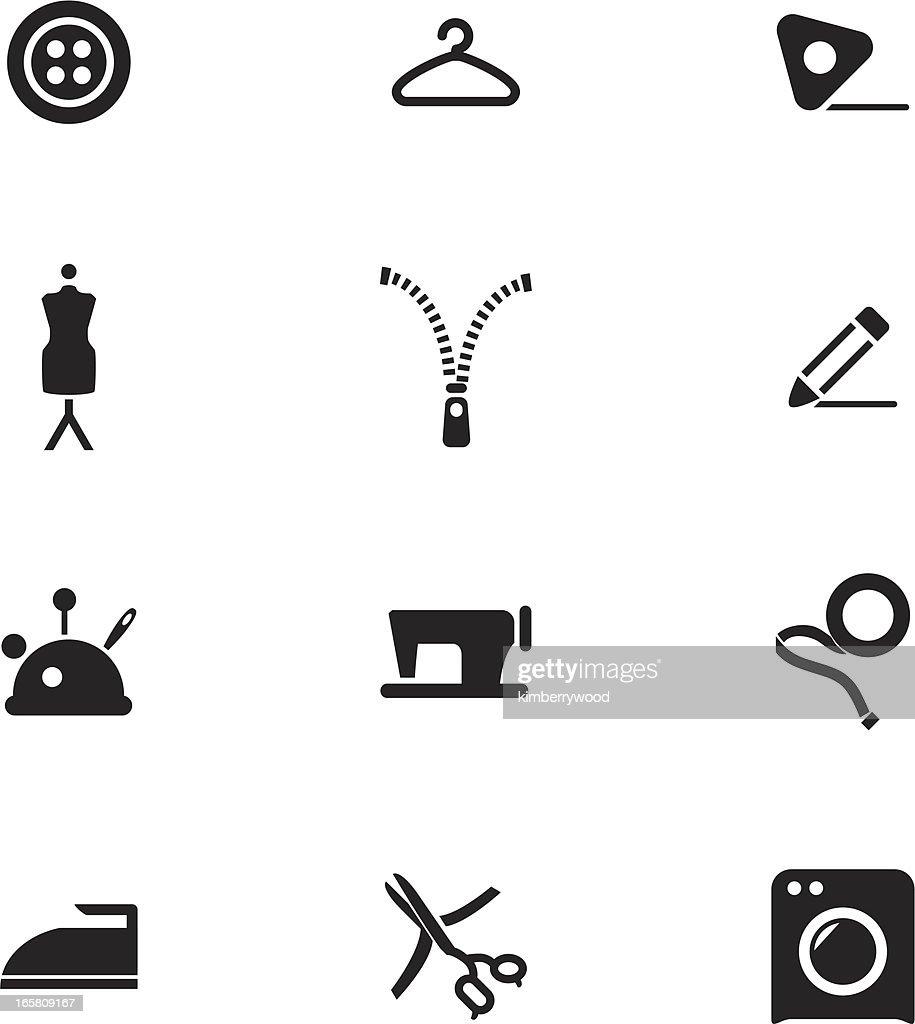Fashion Design Icon Set Vectorkunst Getty Images