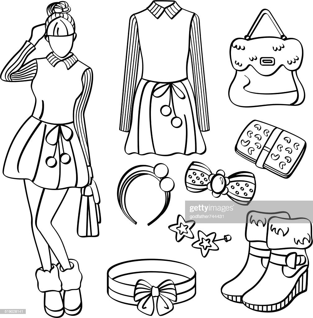 fashion lady with clothing and accessories vector art thinkstock 1720 Fashion for Women fashion lady with clothing and accessories